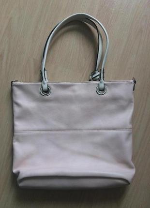 Большая брендовая пудровая    сумка (нюанс на фото)