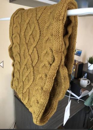 Тёплый шарф 100 шерсть