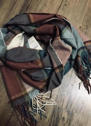 Стильный шарф в клетку cotton
