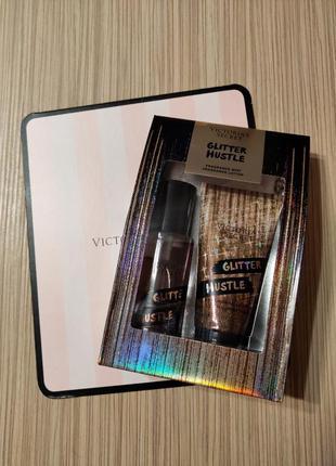 Подарочный набор victoria's secret glitter hustle виктория сикрет   мист спрей лосьон