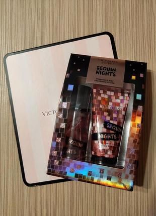 Подарочный набор victoria's secret sequin nights виктория сикрет  мист лосьон спрей