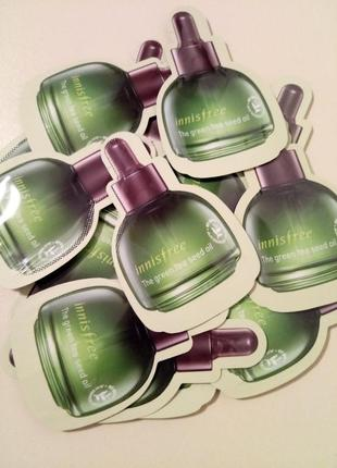 Cуперувлажняющее масло для лица innisfree the green tea seed oil. пробник2 фото