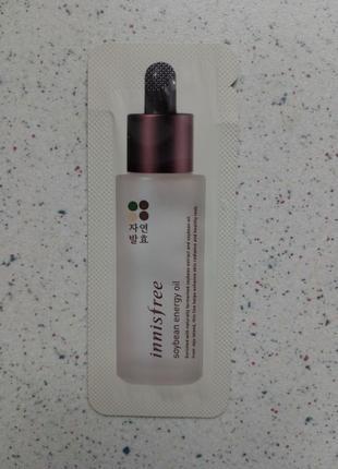 Укрепляющее и подтягивающее масло для лица innisfree soybean energy oil1