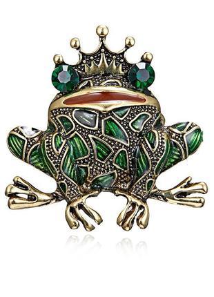 Красивая брошь жаба лягушка, новая! арт.2823