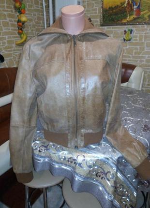 Куртка пиджак кожа бомбер