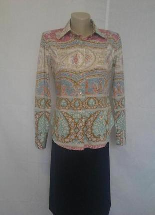 Шикарная стильная рубашки,люкс бренда,коттон,орнамент etro