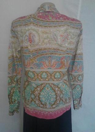 Шикарная стильная рубашки,люкс бренда,коттон,орнамент etro3 фото