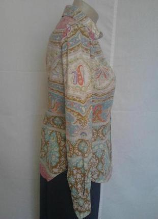 Шикарная стильная рубашки,люкс бренда,коттон,орнамент etro4 фото