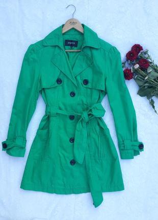 💚 тренч/пальто насыщенно салатного цвета