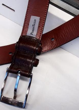 """Красивый прочный мягкий кожаный ремень """"perry ellis"""". сша. 90 см.5"""