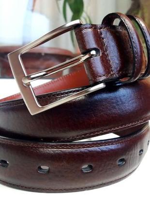 """Красивый прочный мягкий кожаный ремень """"perry ellis"""". сша. 90 см."""
