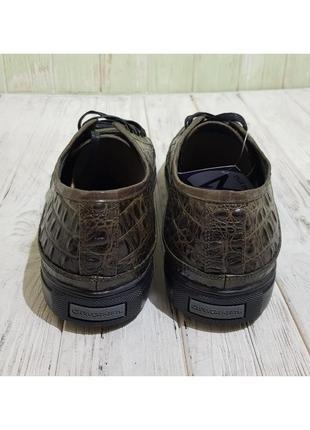 Кеды мужские oscar set зел.кож/крокодил2 фото