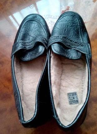 Туфлі з хутряною підкладкою 22.5-23 см