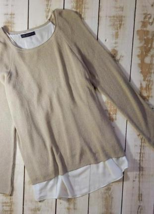 Свитер с блузой-обманкой marks & spencer
