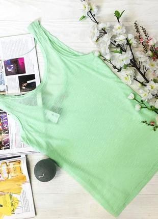Зелена напівпрозора приємна майка від бренду pull&bear