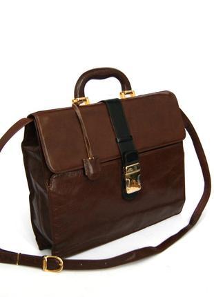 Деловая кожаная сумка-портфель astor.