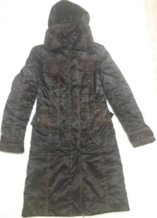 Пальто на синтепоне теплое размер м