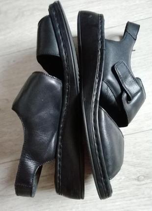 Босоножки женские кожаные rieker 42-43 размер 27см стелька