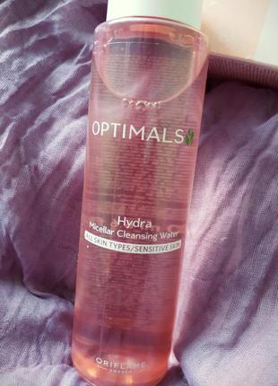 Очищаюча мицеллярная вода optimals hydra