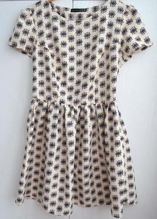 Летнее платье в стиле беби долл цветочный принт