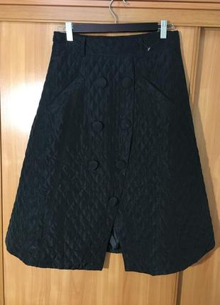 Шикарная стёганая юбка трапеция,veinfuns