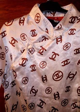 Блуза с тайвани/шелк/дизайнерская