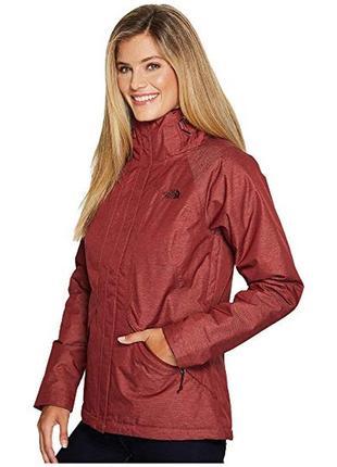Утепленная деми женская куртка north face inlux с капюшоном для уютных прогулок оригинал