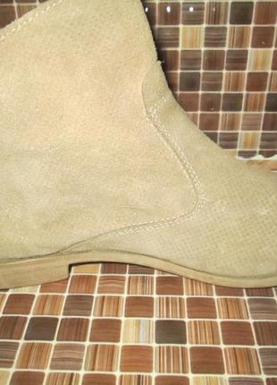 Ботинки tamaris р.40.натур.нубук.оригина(легкое б/у)4 фото