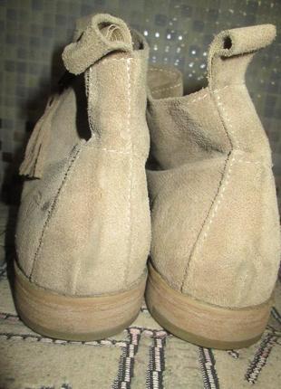 Ботинки tamaris р.40.натур.нубук.оригина(легкое б/у)3 фото