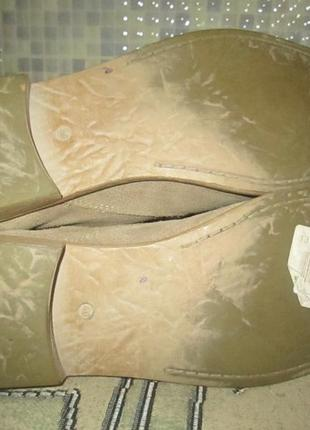 Ботинки tamaris р.40.натур.нубук.оригина(легкое б/у)5 фото