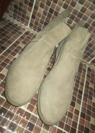 Ботинки tamaris р.40.натур.нубук.оригина(легкое б/у)2 фото