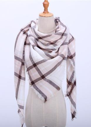 Распродажа!!! главный тренд сезона шарф - плед (платок, палантин)! клетка!
