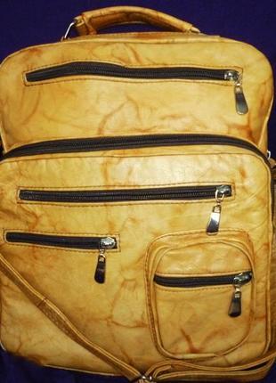 Стильная большая сумка натуральная кожа для мужчин
