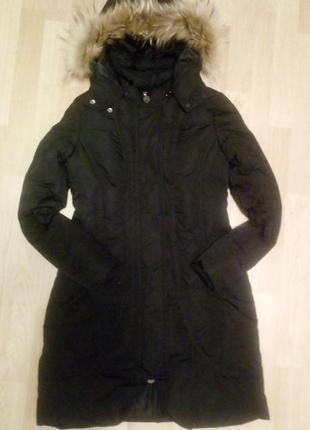 Зимняя удлиненная  куртка пуховик.