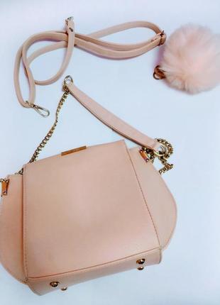 Пудровая сумочка - клатч victoria beckham