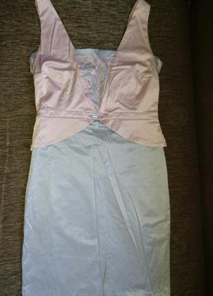 Шикарное платье гипюр атлас