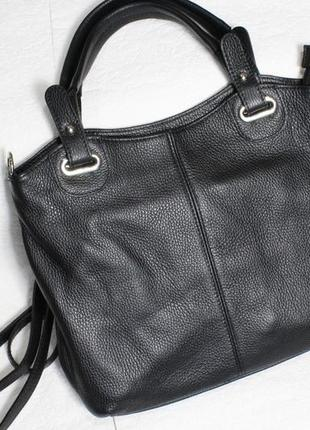 Большая кожаная сумка шоппер из италии
