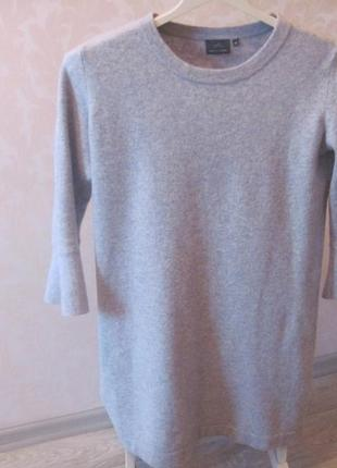 Супер платье-туника (шерсть мериноса, кашемир).размер48