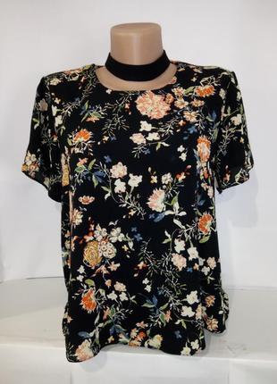 Блуза с чекером в цветочный принт atmoshere uk 10 / 38 /.s
