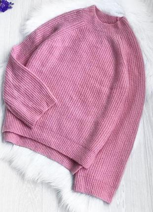 Свитер,кофта с рукавами клёш, свитерок в рубчик с разрезами