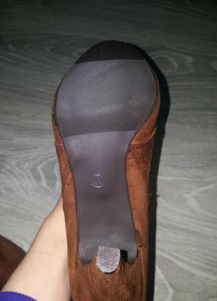 Новые anna field ботинки сапожки ботильоны 41 коричневые4 фото