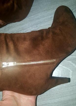Новые anna field ботинки сапожки ботильоны 41 коричневые5 фото