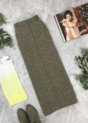 Удлиненная юбка с натуральной шерсти  ki1902008 nicole farhi