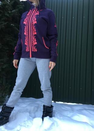 Теплая лыжная толстовка кофта на флисе nordblanc