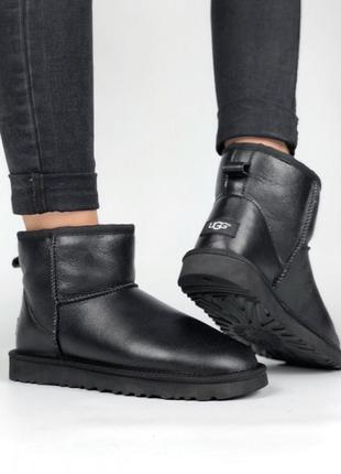Ugg australia угги classic ii mini black leather 36-40