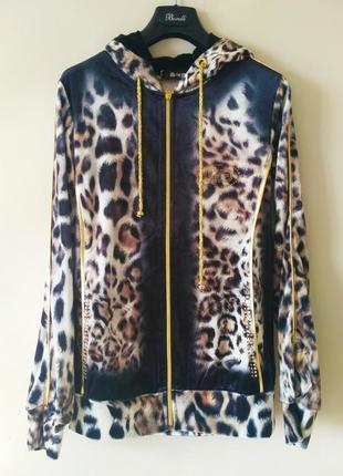 Гламурный велюровый леопардовый костюмeze р.36-38