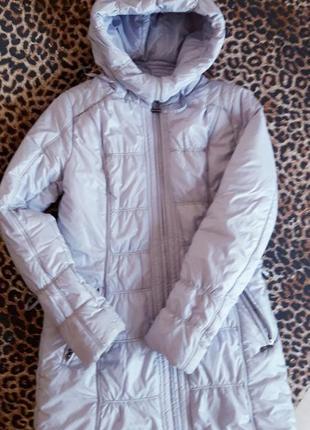 Классное длинное теплое зимнее пальтишко