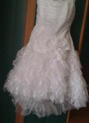 Короткое свадебное или выпускное платье