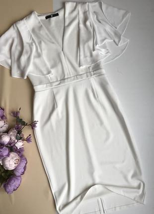 Белое платье миди размер l-xl