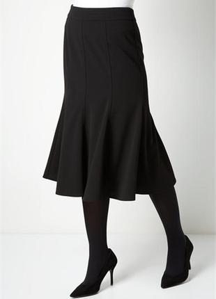 Обнова! нарядная юбка миди черная годе с кружевом качество zara1